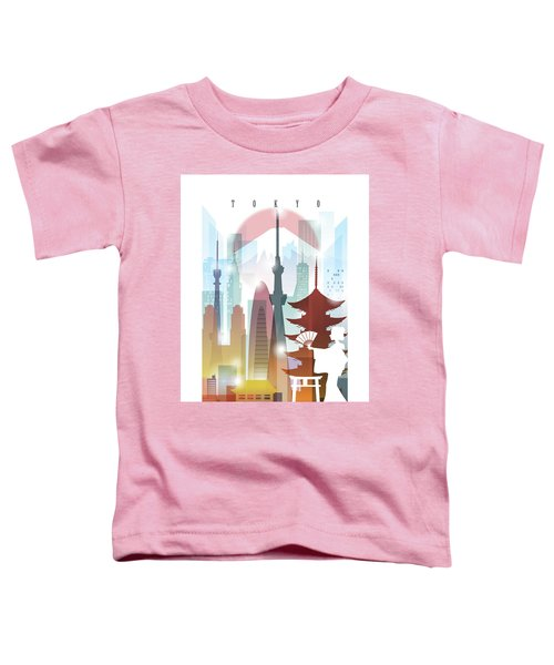 Japan Tokyo 2 Toddler T-Shirt by Unique Drawing