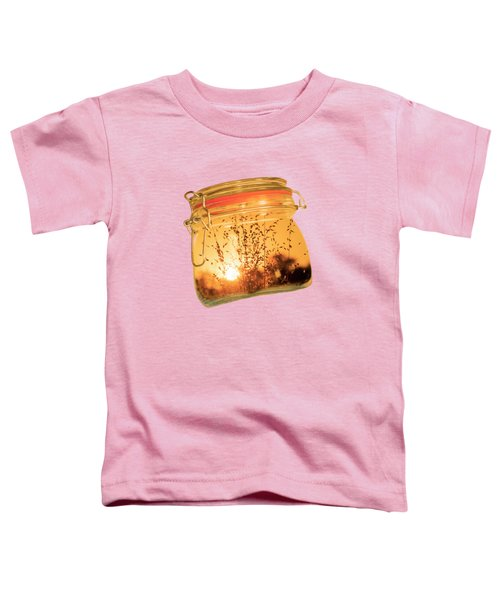 Toddler T-Shirt featuring the photograph Jar Full Of Sunshine by Linda Lees