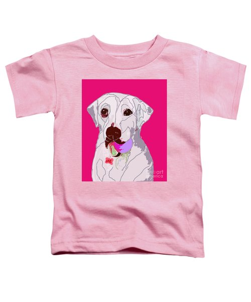 Jax With Ball In Pink Toddler T-Shirt