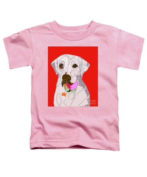 Jax With Ball In Red Toddler T-Shirt