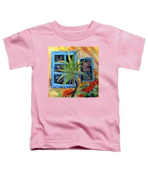 Jazz Bar In Santorini Toddler T-Shirt