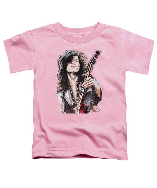 Jimmy Page Toddler T-Shirt by Melanie D