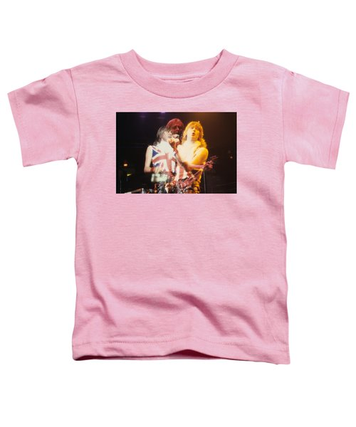 Joe And Phil Of Def Leppard Toddler T-Shirt by Rich Fuscia