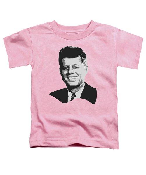 John F Kennedy Black And White Pop Art Toddler T-Shirt