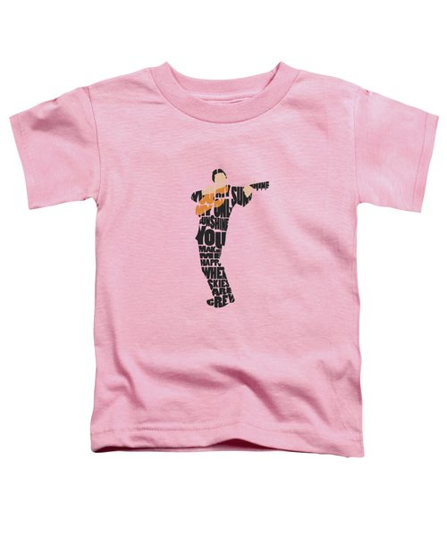 Johnny Cash Typography Art Toddler T-Shirt