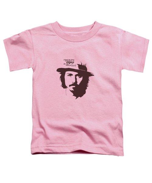 Johnny Depp Minimalist Poster Toddler T-Shirt