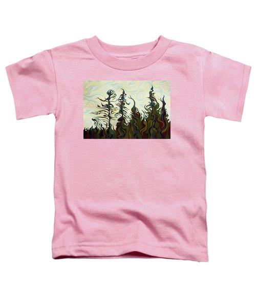 Joyful Pines, Whispering Lines Toddler T-Shirt