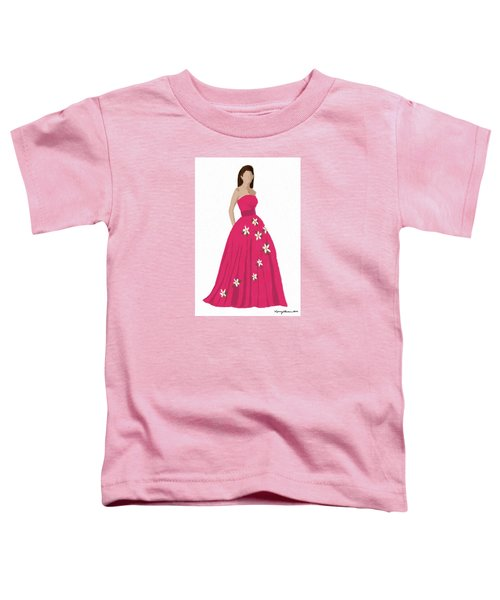 Toddler T-Shirt featuring the digital art Justine by Nancy Levan
