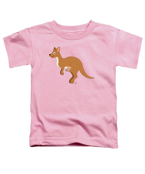 Mamma Kangaroo And Joey Toddler T-Shirt by A