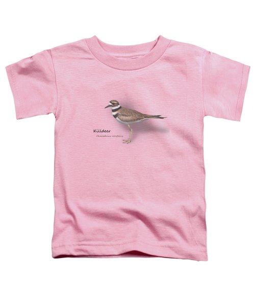 Killdeer - Charadrius Vociferus - Transparent Design Toddler T-Shirt