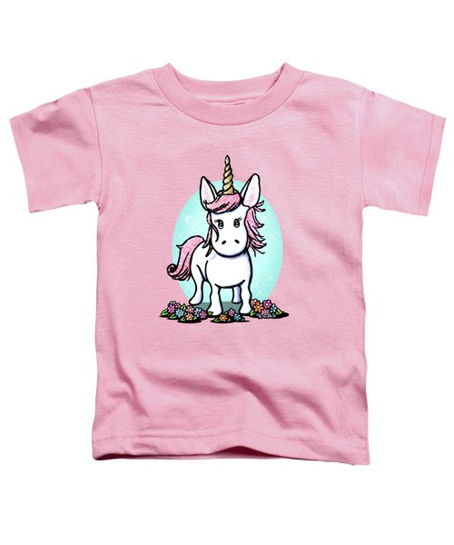 Kiniart Unicorn Sparkle Toddler T-Shirt by Kim Niles