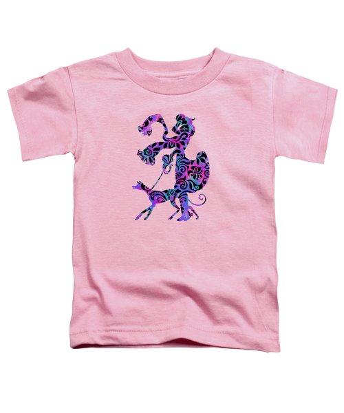 Lady Dog Walker Overlay Transparent Background Toddler T-Shirt