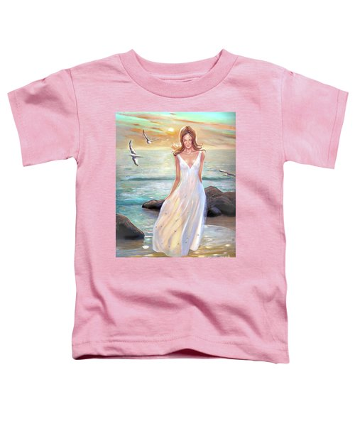 Lady Walking On The Beach Toddler T-Shirt