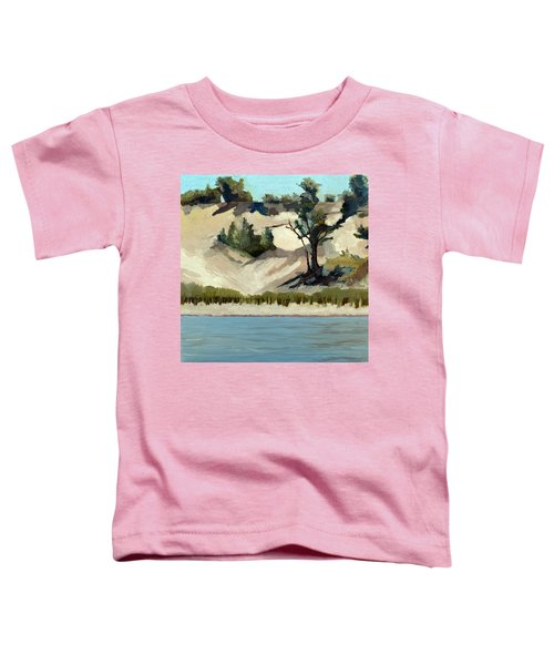 Lake Michigan Dune With Trees And Beach Grass Toddler T-Shirt