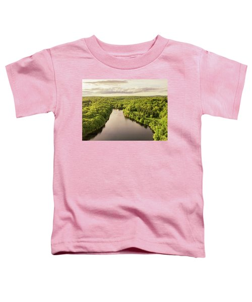 Lake Mohegan, Fairfield, Connecticut Toddler T-Shirt