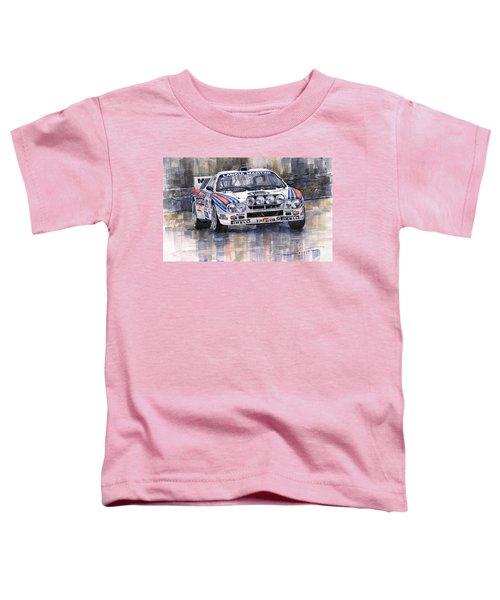 Lancia 037 Martini Rally 1983 Toddler T-Shirt