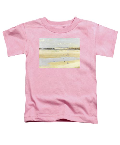 Lapwings By The Sea Toddler T-Shirt by William James Laidlay