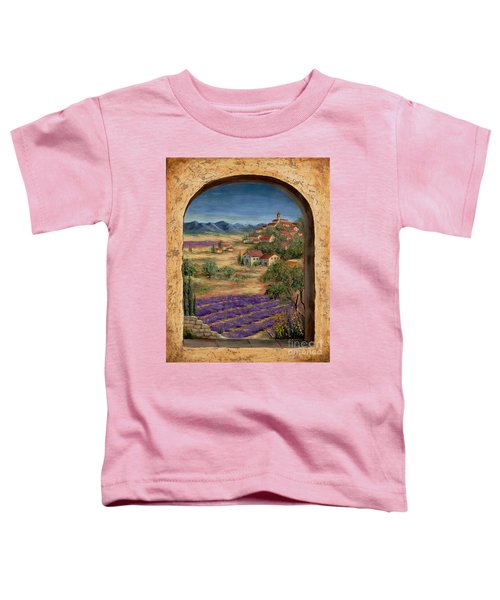 Lavender Fields And Village Of Provence Toddler T-Shirt
