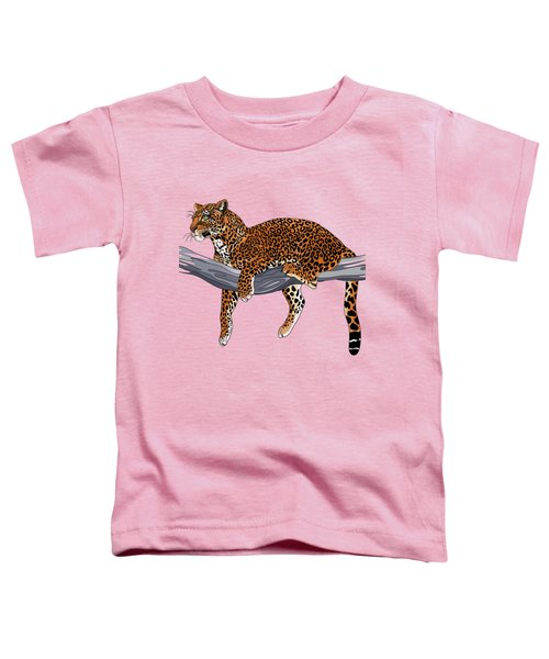 Leopard Toddler T-Shirt by Alexandra Panaiotidi