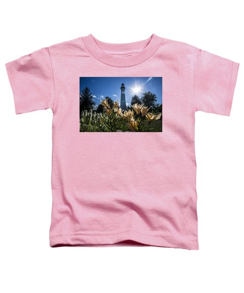 Lighthouse With A Flowery Foreground Toddler T-Shirt