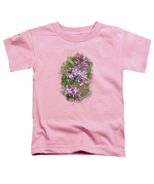 Lilac Watercolor Art Toddler T-Shirt