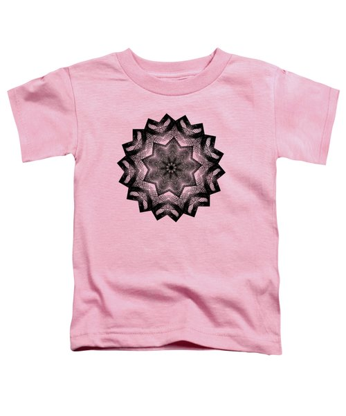 Lines In A Star By Kaye Menner Toddler T-Shirt by Kaye Menner