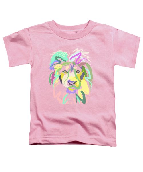 Toddler T-Shirt featuring the painting Lion by Go Van Kampen