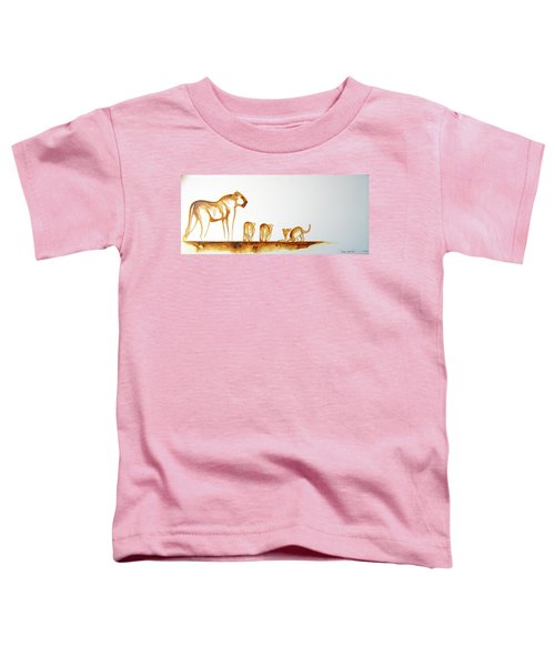 Lioness And Cubs Small - Original Artwork Toddler T-Shirt