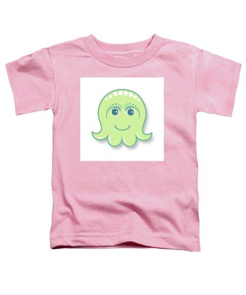 Little Cute Green Octopus Toddler T-Shirt