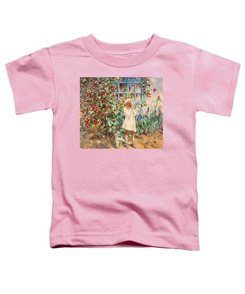 Little Girl With Roses  Toddler T-Shirt