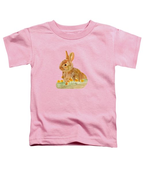 Little Rabbit Toddler T-Shirt by Angeles M Pomata