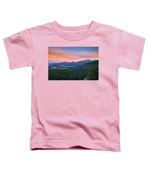Longs Peak Sunset Toddler T-Shirt by David Chandler