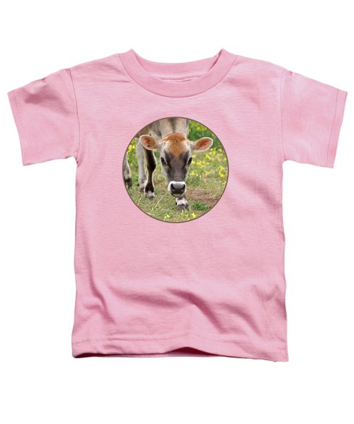 Look Into My Eyes - Jersey Cow - Square Toddler T-Shirt