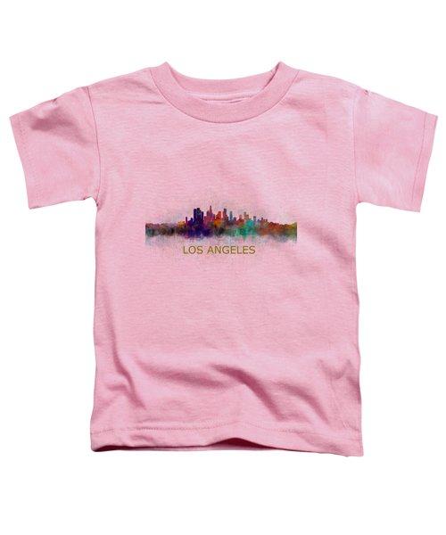Los Angeles City Skyline Hq V4 Toddler T-Shirt