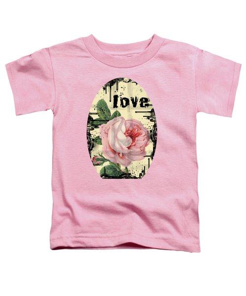 Love Grunge Rose Toddler T-Shirt