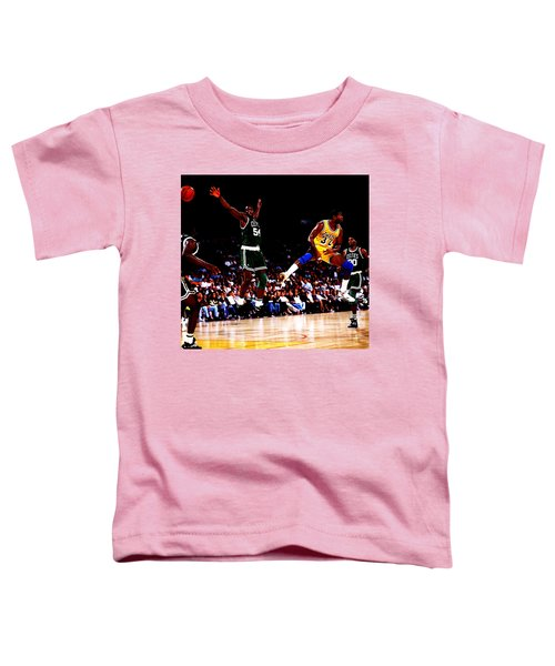Magic Johnson No Look Pass 7a Toddler T-Shirt by Brian Reaves