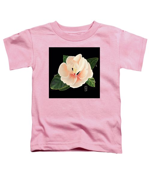 Toddler T-Shirt featuring the digital art Magnolia by Gerry Morgan