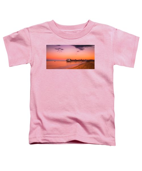 Maine Old Orchard Beach Pier At Sunset Toddler T-Shirt