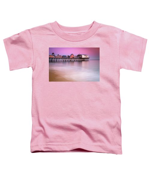 Maine Old Orchard Beach Pier Sunset  Toddler T-Shirt