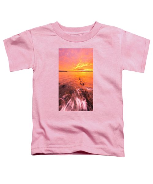 Maine Rocky Coastal Sunset At Kettle Cove Toddler T-Shirt