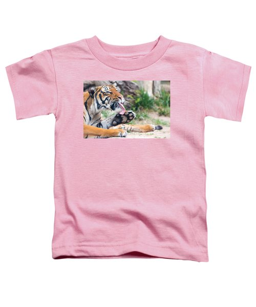 Malayan Tiger Grooming Toddler T-Shirt
