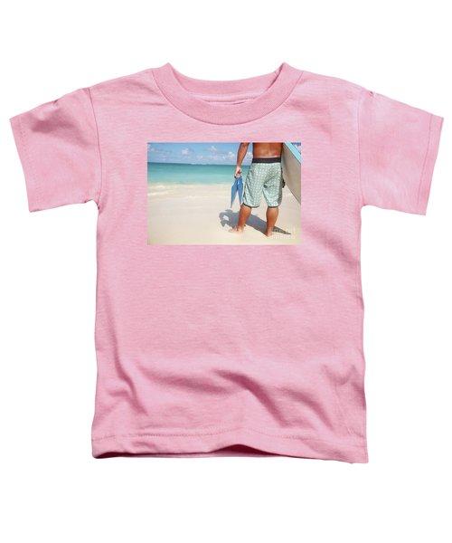 Male Bodyboarder Toddler T-Shirt