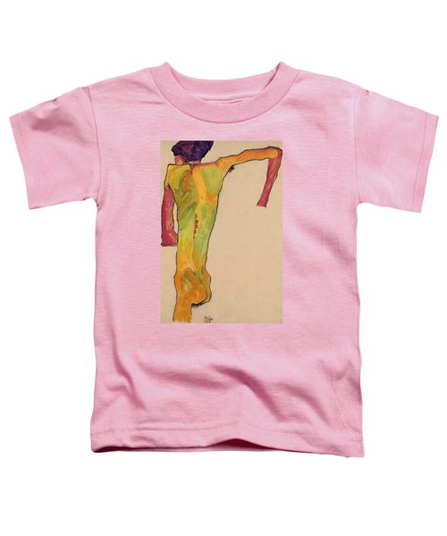 Male Nude, Propping Himself Up Toddler T-Shirt