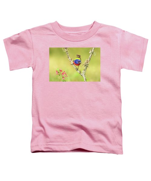 Male Painted Bunting #2 Toddler T-Shirt by Tom and Pat Cory