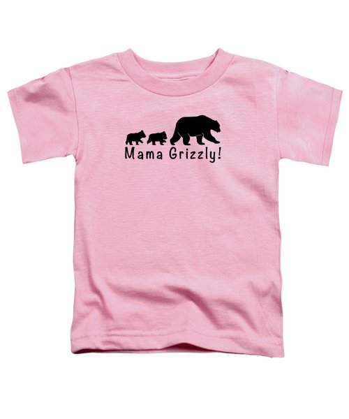 Mama Grizzly And Cubs Toddler T-Shirt by A C