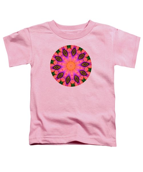 Mandala Salmon Burst - Prints With Salmon Color Background Toddler T-Shirt by Hao Aiken