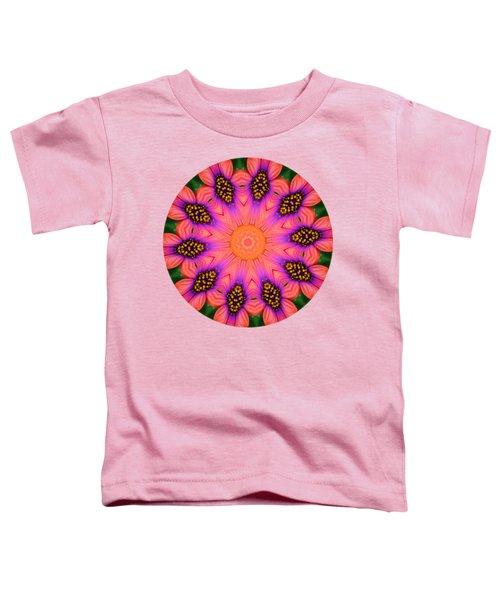 Mandala Salmon Burst - Prints With Salmon Color Background Toddler T-Shirt