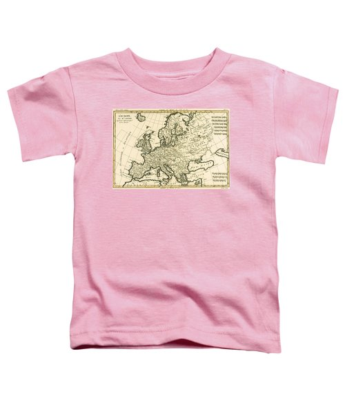 Map Of Europe Toddler T-Shirt