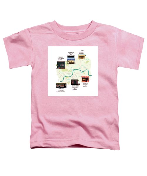 Map Of Unique London Eateries And Bars Toddler T-Shirt