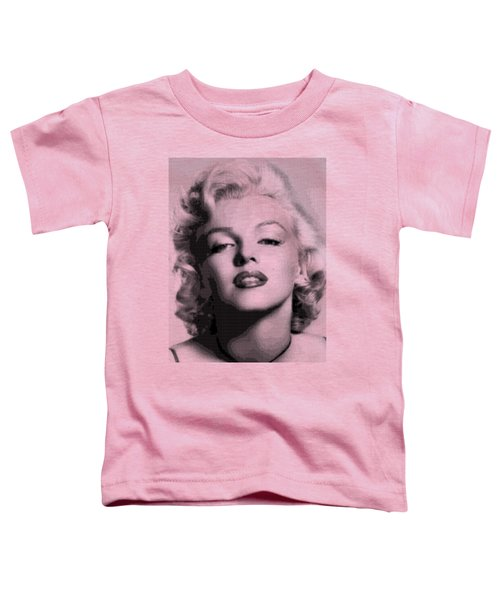 Marilyn Monroe - Bw Hexagons Toddler T-Shirt